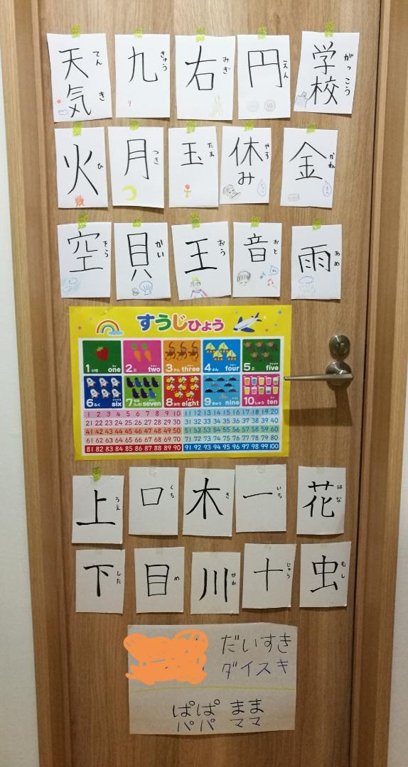 手作り教材知育ポスター:漢字カード(もはやポスターじゃない)
