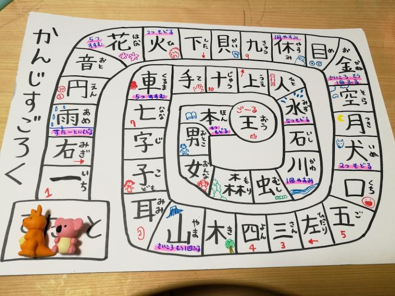 【手作り知育教材の知育玩具編】手書き漢字すごろく。楽しく学べる!漢字を覚えられない子にもおすすめ