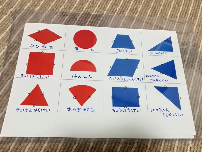 手作り教材知育ポスター:図形一覧算数ポスター
