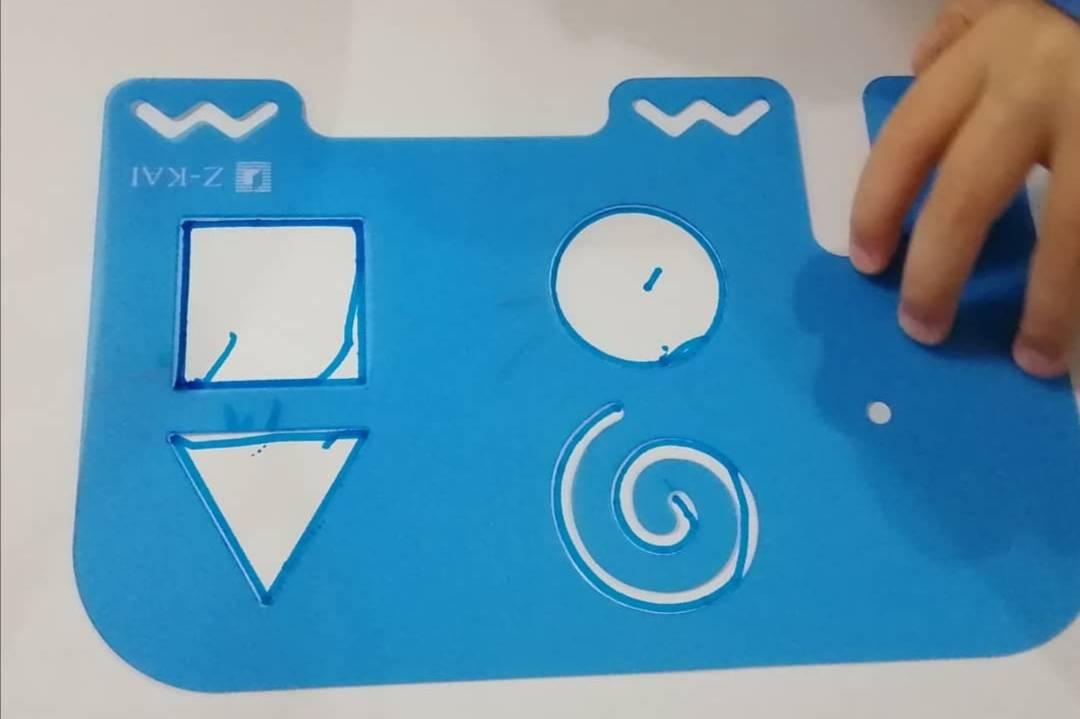 幼児Z会:年少さんが楽しめる図形。付録のぞうさん定規
